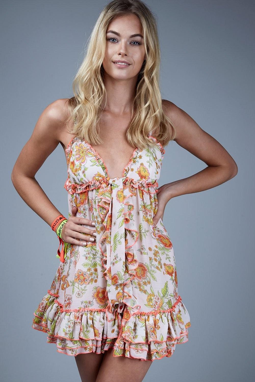 Neon summer dress