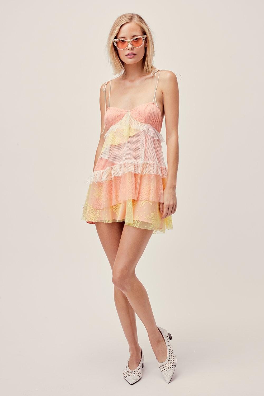 Sorbet lace mini dress