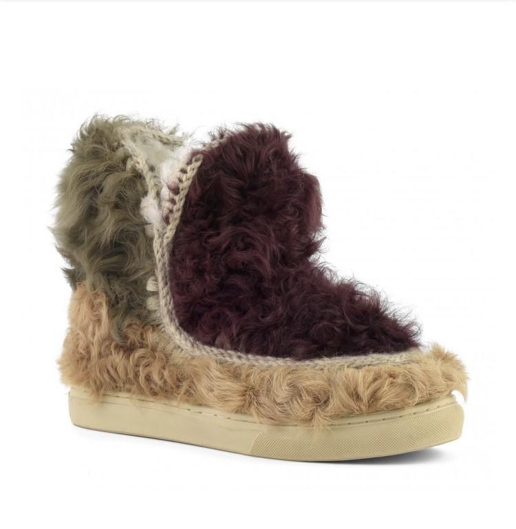 Mou eskimo sneaker cheaking fur mixed