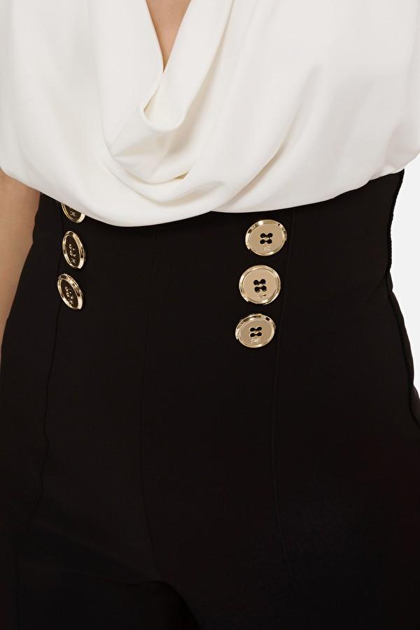 Pantalón palazzo botones