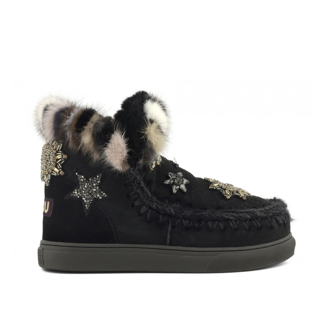 Mou sneaker star patches & mink