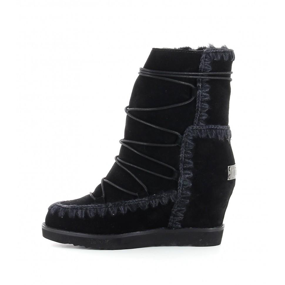 Mou french toe with laces BKBK