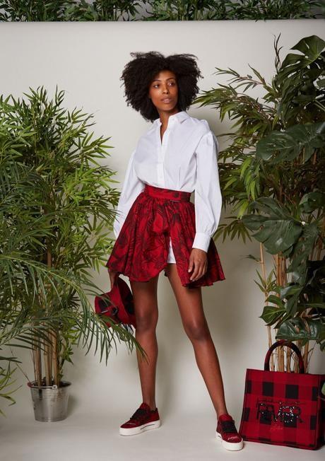 Jungle mini skirt